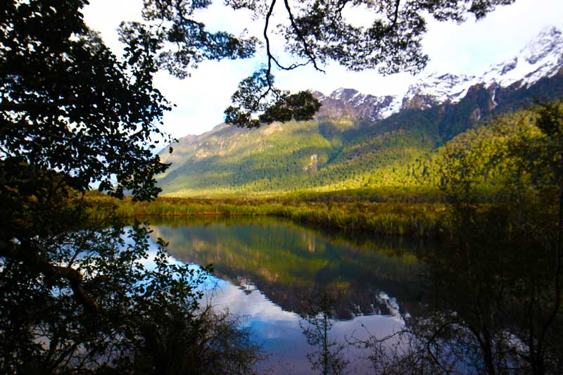 mirror lake one of the most instagram-worthy places in New Zealand's South Island