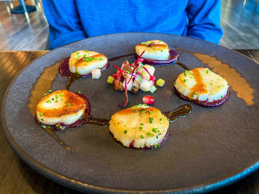 dining at hell's kitchen LAS VEGAS: THE COMPLETE EXPERIENCE pan-seared scallops